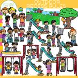 School Outdoor Recess Rules Clip Art