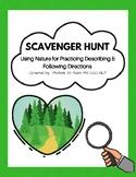 Outdoor Scavenger Hunt:  Leveled Sheets