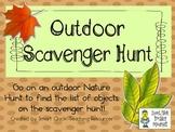 Outdoor Scavenger Hunt ~ List & Rules ~ FREEBIE!