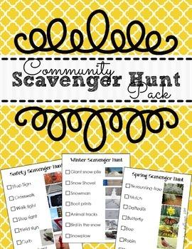 Community Scavenger Hunt Pack