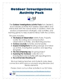 Outdoor Science Investigations Activity Pack
