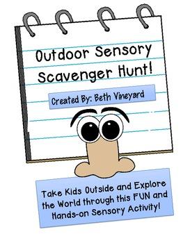 Outdoor Sensory Scavenger Hunt for Primary