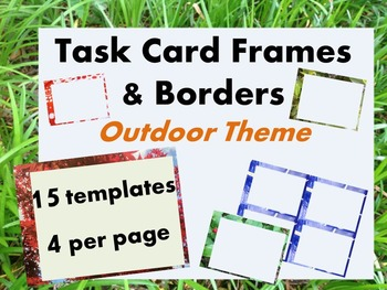 Outdoor Task Card Border Template (4 to a page)