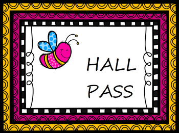 Outdoor Theme Hall Pass