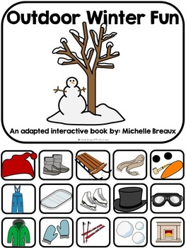 Outdoor Winter Fun- Adapted Book {Autism, Early Childhood, Special Education}