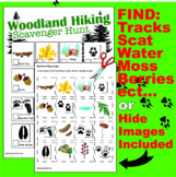 Outdoor Woodland Hiking Scavenger Hunt/Explore/Nature Study/Earth Day