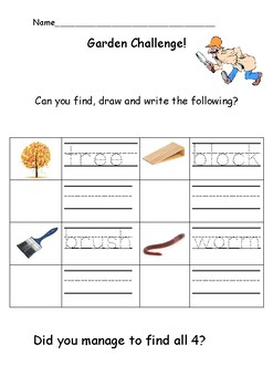 Outdoor Writing Challenge: Early years/ Kindergarten handwriting