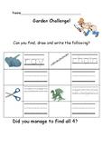 Outdoor Writing Challenge: Early years/ Kindergarten handwriting sheet 4