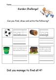 Outdoor Writing Challenge: Early years/ Kindergarten handwriting Sheet 2