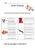 Outdoor Writing Challenge: Early years/ Kindergarten handwriting sheet 3