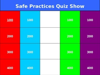 Outdoor safety powerpoint quiz show