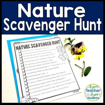 Nature Scavenger Hunt: Students LOVE this Outdoors Scavenger Hunt!