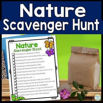 Nature Scavenger Hunt - Outdoors Scavenger Hunt