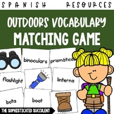 Outdoors Spanish Vocabulary Matching Card Game