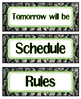 Outdoorsy Classroom Labels