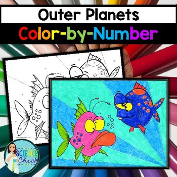 Outer Planets Color-by-Number by Science Chick | TpT
