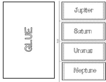 Outer Planets Foldable (Interactive Notebook)