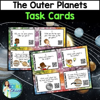 Outer Planets Task Cards - with or without QR codes