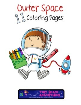 Outer Space: 11 Coloring Pages by Tiny Space Adventures