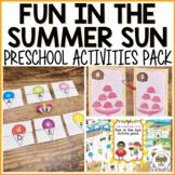 Fun in the Sun Activities for Pre-K, Preschool and Tots