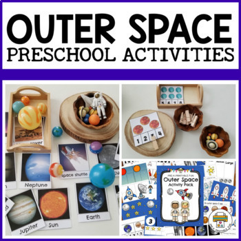 Outer Space Activity Pack for Pre-K, Preschool and Tots