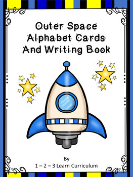 Outer Space Alphabet Cards and Writing Book