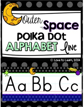Outer Space Alphabet Line - Polka Dot