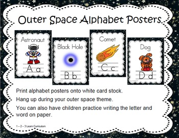 Outer Space Alphabet Posters