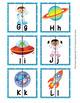 Outer Space Astronaut Alphabet Letter Match Puzzles