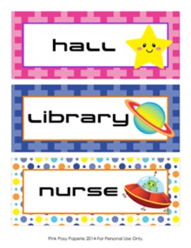 Outer Space Astronaut Hall Passes