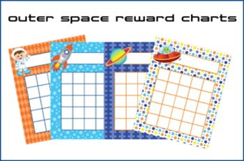 Outer Space Astronaut Incentive Reward Charts