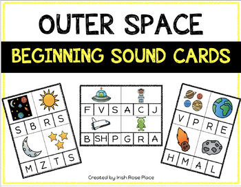 Outer Space Beginning Sound Cards