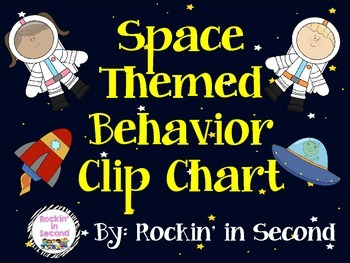 Outer Space Behavior Clip Chart & Certificates