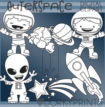Outer Space Blackline Clip Art