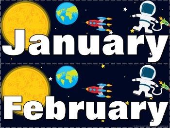 Outer Space Calendar