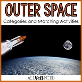 Speech Therapy | Outer Space Categories and Matching Activities
