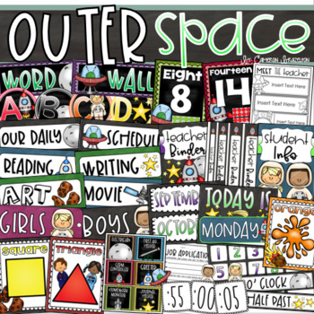 Outer Space Class Decor Bundle (Posters, Binder Covers, Schedule, Calendar)