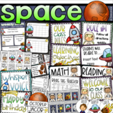 Outer Space Class Management Decor Bundle (Rules, Brag Tags, Newsletter)