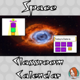 Outer Space Classroom Calendar Display