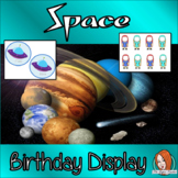 Outer Space Classroom Theme Birthday Display