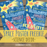 Outer Space Classroom Theme for Science: Watercolor Poster