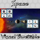 Outer Space Classroom Visual Timetable