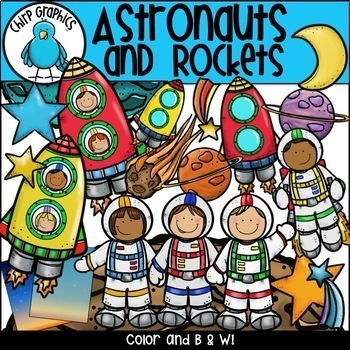 Outer Space Clip Art Multi-Pack - Chirp Graphics