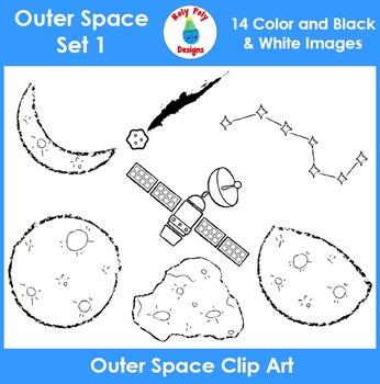 Outer Space Clip Art Set 1