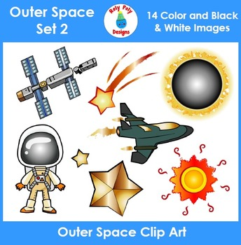 Outer Space Clip Art Set 2