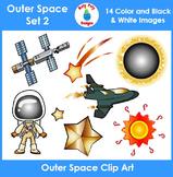 Outer Space Clip Art Set 2