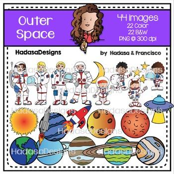 Outer Space Clip Art Set
