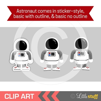 Outer Space Clip Art, Solar System, Astronaut, Rocket, Astronomy Clipart