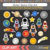 Outer Space Clip Art, Solar System, Astronaut, Rocket, Ast
