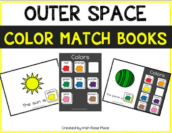 Outer Space Color Match Books (Adapted Books)
